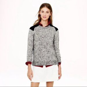 J.Crew. Marled colorblock-shoulder sweater Mohair